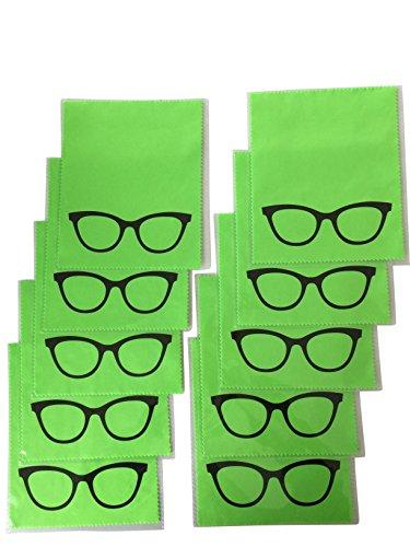 10x Mikrofaser Brillenputztuch - Brille - grün - groß - 18cm x 14,5cm - Putztuch Displayputztuch Reinigungstuch für Kamera iPad iPhone Tablet PC         ✅     