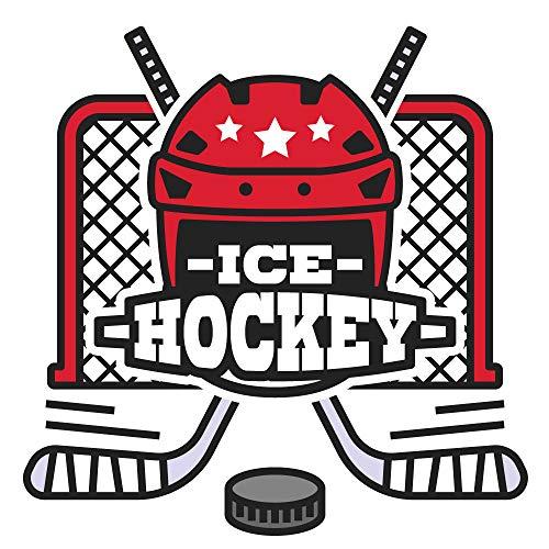 dekodino® Wandtattoo Eishockey Tor und Helm Jugendzimmer Sport Teenager