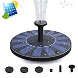 Solar fountain Pump, 2.0W Upgraded Floating Solar Fountains Free Standing Solar Water Pump for Bird bath, Fish Tank, Pond, Pool, Garden and Lawn