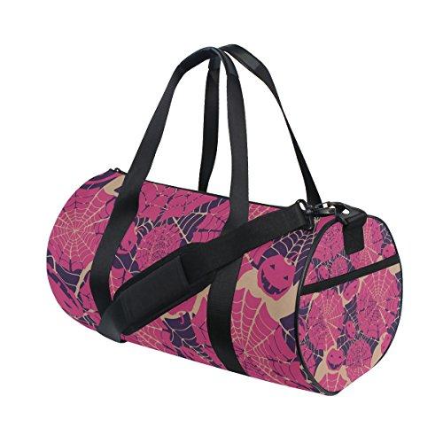 COOSUN Spinnen-Netz-Duffle Tasche Schulter Handy-Sport Gym-Taschen für Männer und Frauen Mittel Mehrfarben