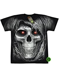 """T-Shirt Rock Chang """"Glow in the dark"""" Chang Heavy Metal Biker Tattoo Rocker Gothic (4016)"""