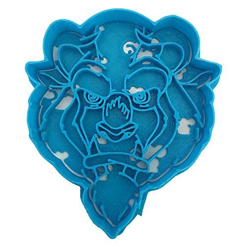 Cuticuter Bella Ausstechform, Design Animation Tier, blau, 8x 7x 1.5cm