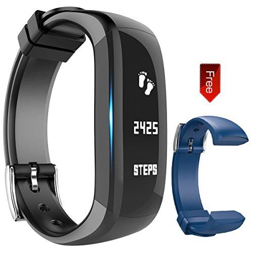Fitness Armband, Sports Fitness Activity Tracker Armbänder Schrittzähler Touchscreen mit Step Tracker/Kalorienzähler/Sleep Monitor Tracker/Call Benachrichtigung Push für phone, Hembeer,