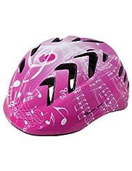 Casco Infantil Niño Niña ROSA MUSIC para Bicicleta Ciclismo Homologado 3940XS
