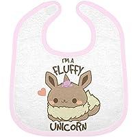 Babero rosa Pokemon Evoli Kawaii Eevee I m a Fluffy Unicorn je suis une unicornio se