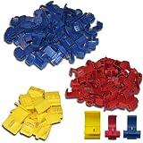 SET: 100 Abzweigverbinder 50 x blau - 40 x rot - 10 x gelb / Schnellverbinder / Stromdieb