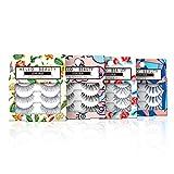 JIMIRE False Eyelashes�Demi Lashes Multipack - Natural Wispies Dramatic Glam Eyelashes 4 Packs