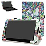 Linx 820 Case,Mama Mouth PU Leather Folio 2-folding Stand Cover with Stylus Holder for 8.0' Linx 820 8-Inch Windows 10 Tablet PC,Love Tree