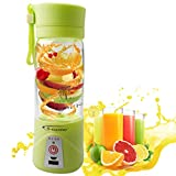 Picture Of A-szcxtop Multifunction 380ML Mini USB Electric Fruit Juicer CUP Rechargeable Smoothie Maker Blender Drink Bottle (Green)