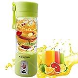 A-szcxtop Presse Fruit électrique 380ml multifonction Mini USB rechargeable tasse bouteille boisson Smoothie Maker Blender (Vert)