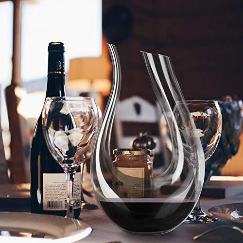 FeiKe YKPUII 1500ML Große Karaffe Handgemachte Kristall Rotwein Brandy Champagner Gläser Karaffe Flasche Krug Ausgießer Belüfter Für Familie Bar