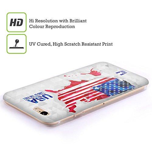Head Case Designs Espagne Cartes Géométriques Étui Coque en Gel molle pour Apple iPhone 5 / 5s / SE États-Unis D'Amérique