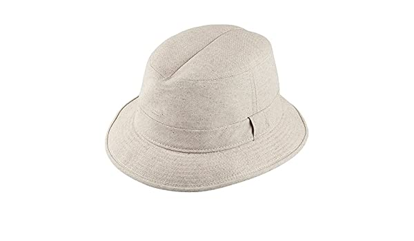 425825ee7 Crambes Hats Crushable Cotton and Linen Bucket Hat - Natural X-Large ...
