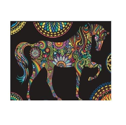 Colorvelvet L085 - Cavallo Mandala Disegno, 47 x 35 cm