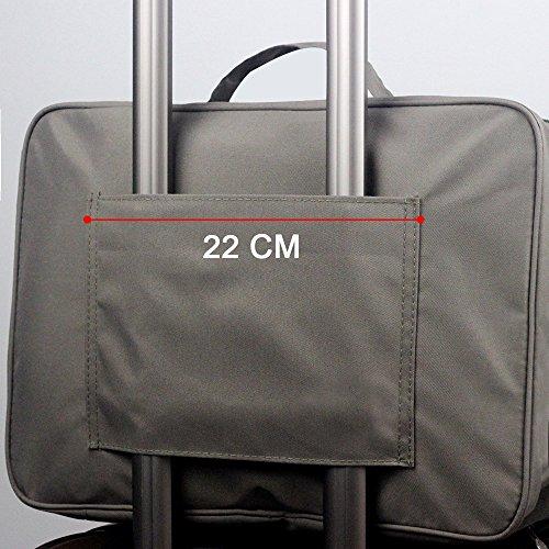 Wasserdichte Stopfbarer Reisetasche Duffle Bag Reisehandgepäck Über Nacht Kleiderkoffer Veranstalter Lagerung Verpackungs-Beutel with 3D Eyepatch Augenmaske Für Sports Gym Camping (Grau) Grau