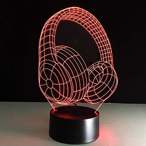 orangeww 3D Nachtlicht/Handshake/Sikahirsch/Niedliches Reh/Pharao/Kopfhörer / 7 Farben/Dekoratives Licht/Schlafende Beleuchtung/Kinder Geschenk Headset