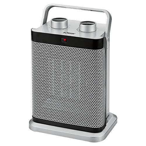 Bomann HL 1097 CB Keramik-Heizlüfter 7-Stufen-Schalter, stufenlos regelbarer Thermostat, 1000/1500 W, silber -