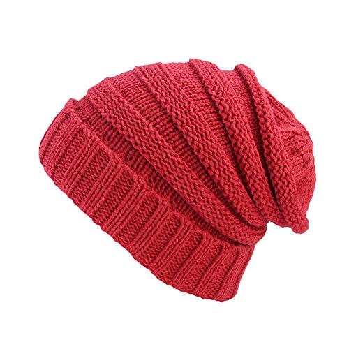 SEWORLD Heißer Einzigartiges Männer Frauen Federhülse Winter Wollmütze Kopfbedeckung Strickmütze Turban Frühling Krempe Hut Cap(A)