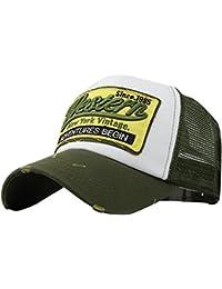 0cac571b05e58 Fossen Verano Vintage Sombrero con Viseras Western Malla Gorras Beisbol para  Hombres Mujeres