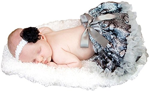 Kostüm Snake Girl - Animal Dress Grey Snake Printing Baby Skirt Tutu Girl Clothing 3-12m (Grau)