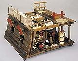 Battle Station Diorama 1800 englische Waffe deck Holz Modellbausatz 1/23