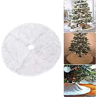 Motto.h 78 cm Falda de Árbol de Navidad con Bordado,Cubierta de la Base del árbol de Navidad de la Falda del árbol de Lindo muñeco de Nieve Vintage decoración de Navidad Practical