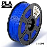 Blau PLA 3D Drucker Filament,±0,02 mm Toleranz,1kg/Spule,1,75mm PLA,Umweltfreundliches Filament Geeignet für 3D-Drucker/3D-Druckstift