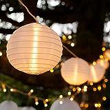10er XL LED Lampion Lichterkette warmweiß koppelbar Strombetrieb Lights4fun
