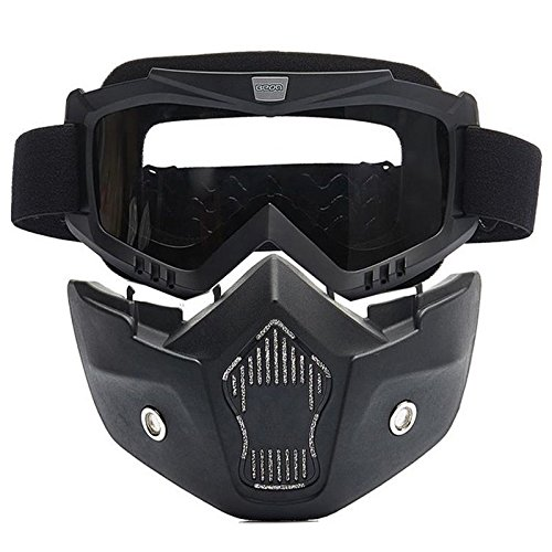 Delhi Traderss Detachable Modular Motorcycle Bike Face Helmet Mask Shield Goggles For Motorcycle Helmet-In Glasses
