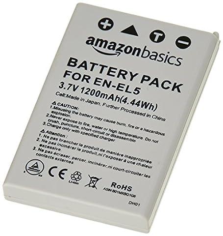 AmazonBasics - Lithium-Ionen-Akku für Kameras Nikon (EN-EL5)