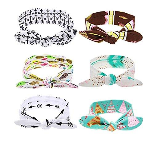 Baby Mädchen Kinder Prinzessin Ausschnitt Hasenohren Stirnbänder Haarbänder Kopftuch Stirnbänder Chiffon Blumen-Haar-Schleife (2)