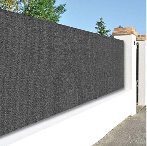Canisse de jardin en PVC double face en rouleau de 3 m coloris gris anthracite, 1,20 m x 25 m -PEGANE-