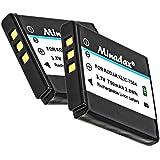 2x Minadax® qualitaets Batterie avec véritable 750mAh pour KODAK EasyShare M1033m1093is V1073V1233V1253V1273M 10331093is V 1073123312531273, comme de Klic 7004–Système de batterie intelligent avec puce