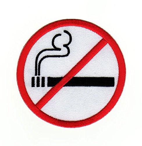 Rauchen Verboten Zeichen Aufnäher Bügelbild - Rauchen Patch