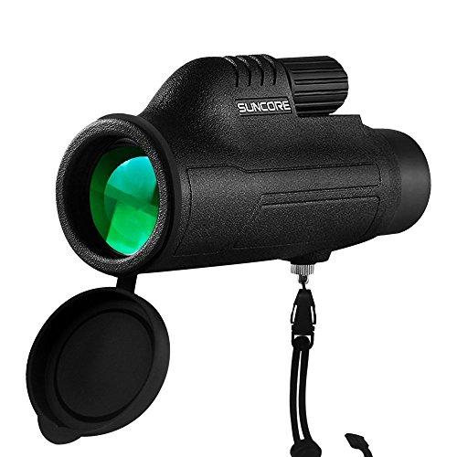 Teleskop Monokular, 10X42 Compact Monokular - Hell und klar - Single Hand Focus - Wasserdicht, Nebelscheinwerfer - für Vogelbeobachtung, Fußballspiel oder Wildlife - Stativ für Hände Freie Betrachtung