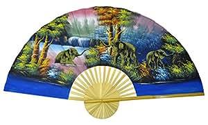 Eventail - Décoration murale 150 cm de large – fait main et importé Thaïlande (80069)