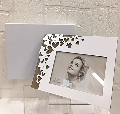 Cornice portafoto cuore stilizzato bomboniera matrimonio