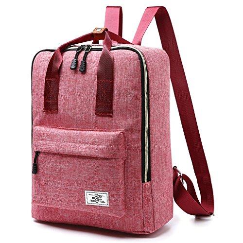 F@2016 neue Schulranzen Rucksack Umhängetasche Männer und Frauen, Mode-Handtaschen, Rucksäcke Schülercomputern watermelon red