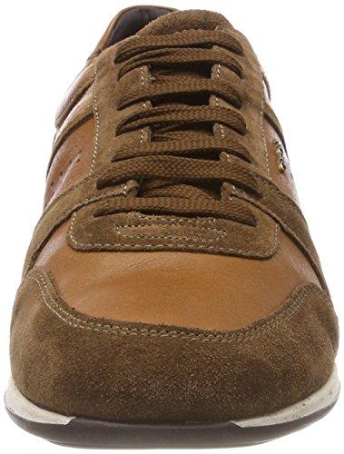 Geox Herren U Clemet A Sneaker Braun (Cognac/Browncotto)