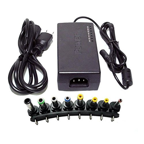 mark8shop 96 W Multifunktions-Universal Notebook Laptop AC DC Power Adapter Ladegerät mit 12 V, 15 V, 16 V, 18 V, 19 V, 20 V, 24 V -