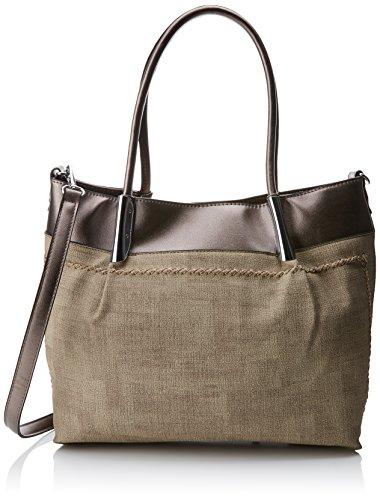 Swankyswans Damen Suzie Faux Leather Handbag Tote, Silber (Antique Silver), 12x30x28 centimeters - Faux Antique