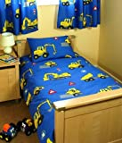 DIGGER COT BED/TODDLER DUVET COVER
