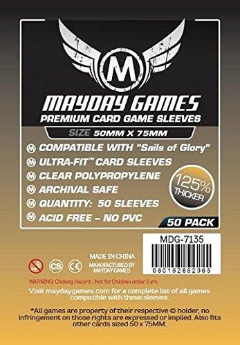 50 Mayday 50 x 75 Sails of Glory Premium Card Sleeves Board Game - Brettspiel Hüllen