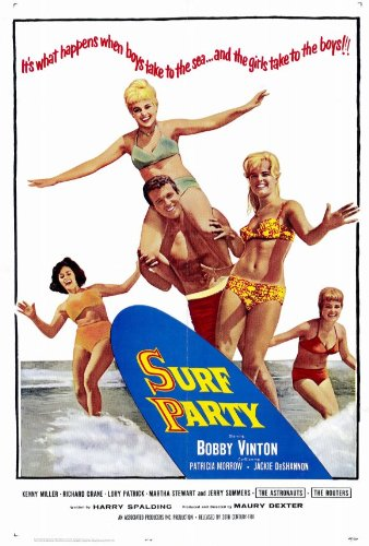 Poster Surf, film, 69 x 102 cm, Bobby Vinton Jackie De Shannon Patricia Morrow Kenny Miller