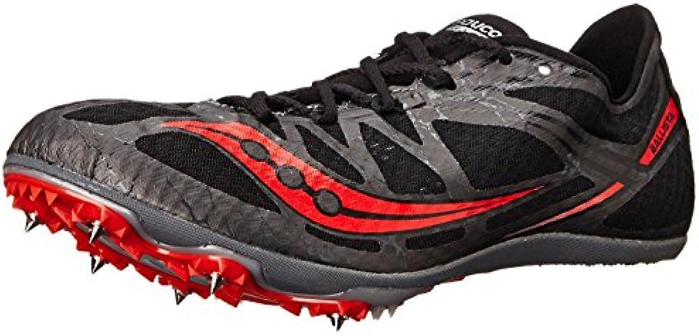 Saucony Men's Ballista Track Spike Racing Shoe, Negro/Rojo, 37.5 D(M) EU/4 D(M) UK