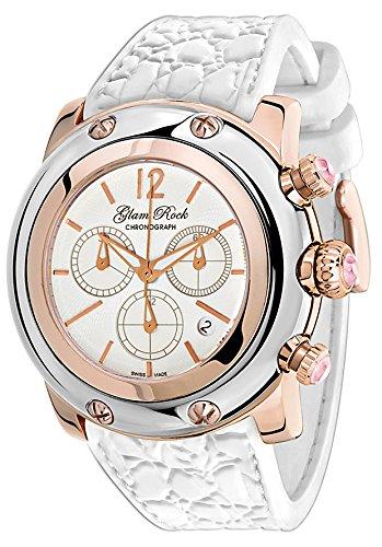 Glam Rock donna Miami cronografo bianco quadrante bianco in silicone