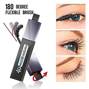 4D Silk Fiber Lash Mascara, Mascara Impermeable 180 Grados Flexible Brush Curling Lashes, Mascara Natural Thickening…