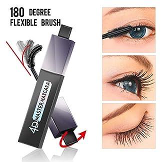 4D Silk Fiber Lash Mascara, Mascara Impermeable 180 Grados Flexible Brush Curling Lashes, Mascara Natural Thickening Thicking, Regalo duradero y encantador