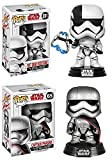 Funko POP! Star Wars The Last Jedi: First Order Executioner + Captain Phasma - Vinyl Bobble-Head Figure Set NEW