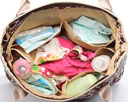 , Fashion Mumienschlafsack Kapazität Multifunktions Schwangere Frauen Einkaufstasche Handtasche Baby Windel Windel Wickeltasche Tote Taschen Azure with hearts